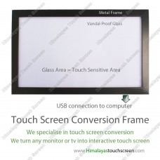 "65"" Multi Touch Screen Conversion Frame - Frame Only, no glass, assembly required"